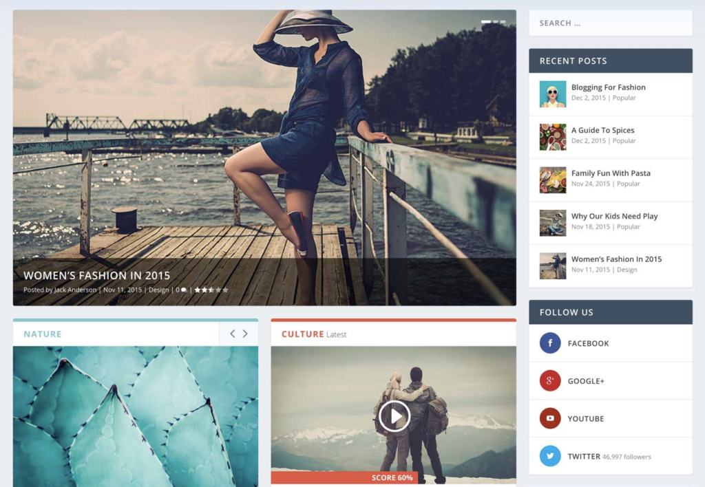 preview of WP aggregator theme Extra