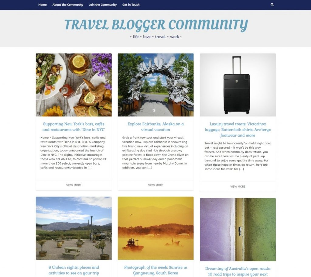 Travel Blogger Community